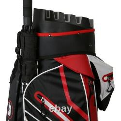 Ram Golf Premium Waterproof Cart Bag with 14 Way Molded Organizer Divider Top