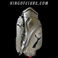 Rare Puma Golf Tour Cart / Carry Bag / Silver With Storm Hood