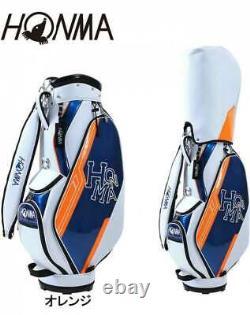 SALE Honma Caddie Cart Bag CB12114 White/Navy/Orange 9 Inch Unisex