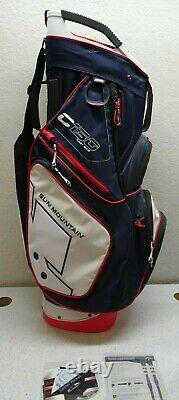 Sun Mountain C-130 Cart Bag 14 Ind. Full Dividers 2019 Navy/White/Red USA READ