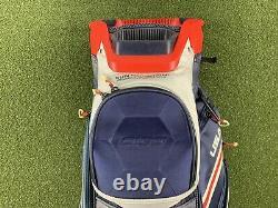 Sun Mountain C-130 Cart Bag USA Golf Bag Blue White Red 14-Way Divide Top