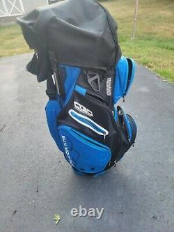 Sun Mountain C130 Supercharged Cart Bag Black and Blue