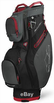 Sun Mountain Phantom Cart Bag 2020 Golf Black/Gunmetal/Red 15-Way Divider New