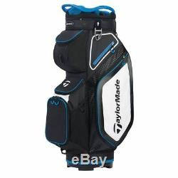 TaylorMade 8.0 14-WAY Divider Golf Cart Bag Black/White/Blue NEW! 2020