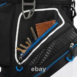 TaylorMade 8.0 14-WAY Divider Golf Cart Bag Black/White/Blue NEW! 2021