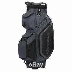 TaylorMade 8.0 14-WAY Divider Golf Cart Bag Charcoal/Black NEW! 2020