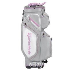 TaylorMade 8.0 14-WAY Divider Golf Cart Bag Grey/Purple NEW! 2020