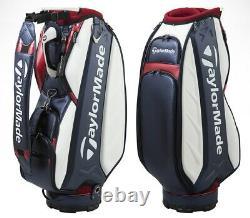 TaylorMade A-9 Tour 10inch 4-Way Men's Caddie Bag Cart PU U23360 White/Navy/Red