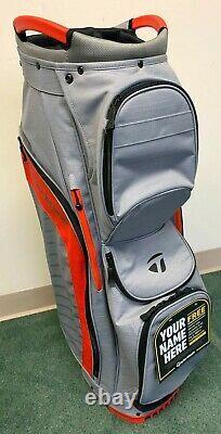 TaylorMade Cart Lite Golf Bag NEW 14 Way Top Graydark Blood Orange