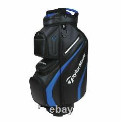 TaylorMade Deluxe 14-WAY Trolley/Cart Golf Bag Black/Blue NEW! 2021