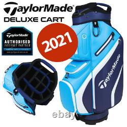 TaylorMade Deluxe 14-WAY Trolley/Cart Golf Bag Navy/Blue NEW! 2021