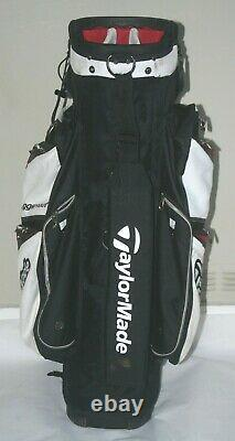 TaylorMade Juggernaut cart bag in black / red / white good condition