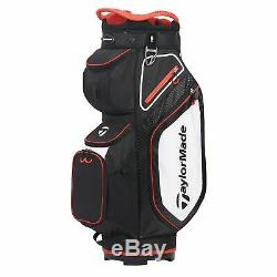 TaylorMade Mens Cart 8.0 Cart Golf Bag 2020 Black/White/Red