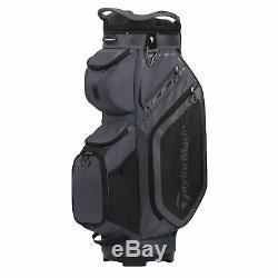 TaylorMade Mens Cart 8.0 Cart Golf Bag 2020 Charcoal/Black
