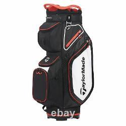 TaylorMade Mens Cart 8.0 Cart Golf Bag 2021 Black/White/Red