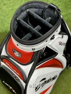 TaylorMade R9 TP Burner T2 Demo Cart Staff 8.5 Golf Bag + Rain Hood MINT! #2256