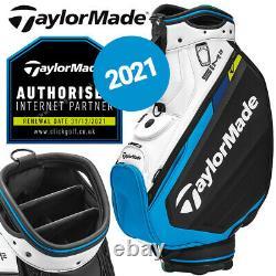 TaylorMade SIM2 Tour Golf Cart Bag 6-WAY Black/White/Blue NEW! 2021