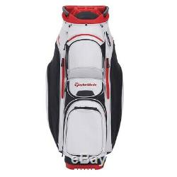 TaylorMade Supreme Cart Golf Bag Silver White/Black New 2020