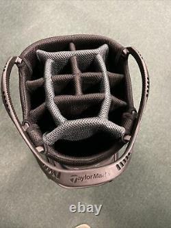 Taylormade 8.0 Cart Golf Bag Black/Charcoal/white- 14 way top
