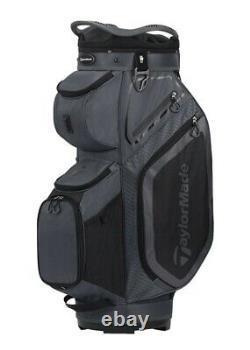Taylormade 8.0 Cart Golf Bag Charcoal Black- 14 way top