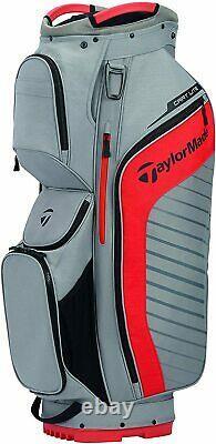 Taylormade Cart Lite Cart Bag / Grey/Blood Orange (DEMO)