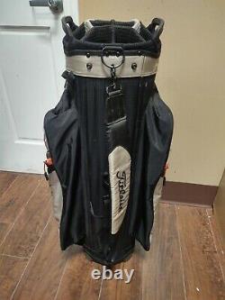 Titleist 14 Divider Golf Cart Bag Brown/Gray/Black w Raincover