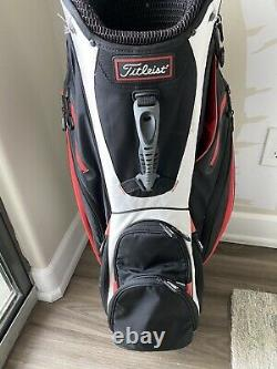Titleist 14 Way Golf Cart in Bag Red Black White