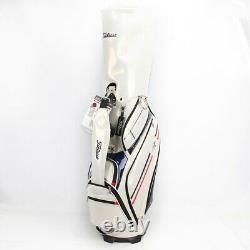 Titleist 2019 Men Caddie Bag Casual Cart TB8CTCB 9In 5Way 7.5lb PU/PVC Ems White
