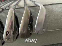 Titleist 718 AP1 Iron Set RH 4-PW + SM4 Vokey 56 & 52 Wedges. With Cart Bag