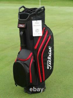 Titleist Cart 14 Lightweight Golf Bag 2020 Black/Black/Red 12676