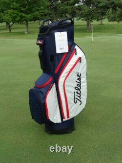 Titleist Cart 14 Lightweight Golf Bag 2020 Navy/White/Red 12670