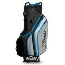 Titleist Cart 14 Lightweight Golf Cart Bag New 2020 Black/Grey/P Blue