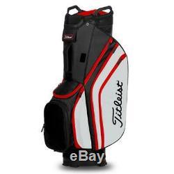 Titleist Cart 14 Lightweight Golf Cart Bag New 2020 Black/White/Red