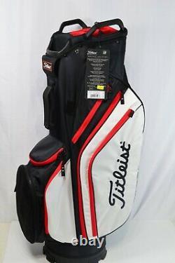 Titleist Cart 14 Way Lightweight Bag Black/White Red 2020