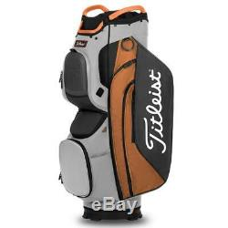 Titleist Cart 15 Golf Cart Bag New 2020 Grey/Orange/Charcoal