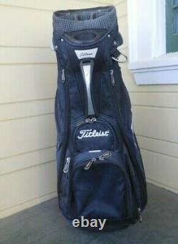 Titleist Cart Bag / 14 Way Divide / Black & White / Includes Raincover