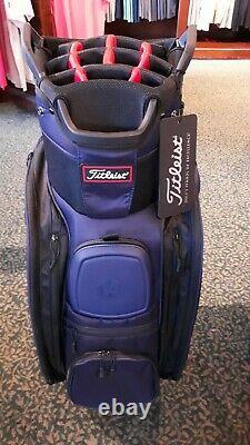 Titleist Deluxe Navy Cart Golf Bag 14 Club Slots