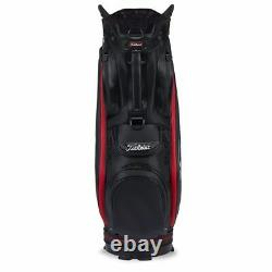 Titleist Jet Black Sta-Dry Premium Cart Bag Black/Red NEW! 2021 LIMITED STOCK