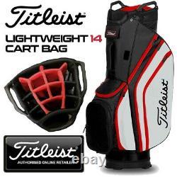 Titleist Lightweight 14-WAY Golf Cart Bag Black/White/Red NEW! 2020