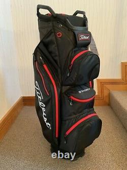 Titleist StaDry 14 Cart Bag Black, Black And Red New