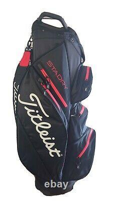 Titleist StaDry Golf Cart 15 Bag Black/Red / TB20CT7-006