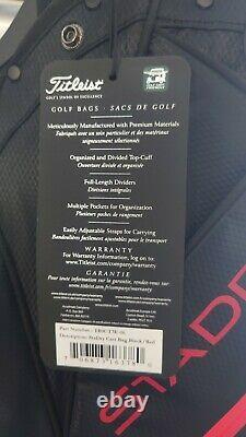 Titleist StaDry Golf Cart Bag Black/Red / TB20CT7-006