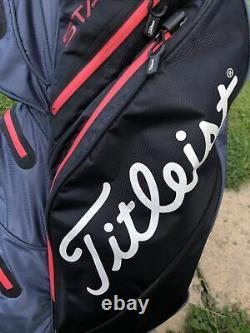 Titleist StaDry Waterproof 14-Way Golf Cart Bag / Rainhood / Decent condition
