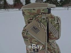 U. S. Army Camo Golf Cart Bag with U. S. Flag Logo NEW 10855