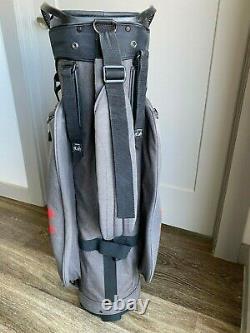 Under Armour Armada Storm Cart Golf Bag Red Charcoal Black Sun Mountain
