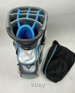 Used Callaway CHEV ORG 14 Golf Cart Carry Bag White/Gray/Blue