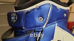 Used Mizuno Blue White Golf Cart Tour Bag Hood 14 Way Top