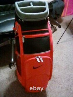 Very rare red Nike Staff/Tour cart bag