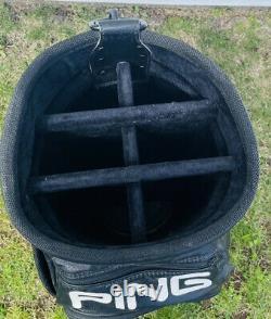 Vintage Ping Golf Bag Black Ping Staff Bag Cart Bag Very Nice