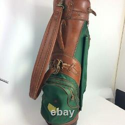 Vtg Masters Tournament Hot Z Golf Club Bag with Rain Hood Canvas Leather USA Made